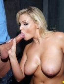Katy Jayne big tit blonde sucking