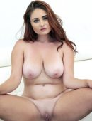 Lennox Luxe big natural tits shaved pussy