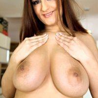 Sandra Milka huge tits foreign babe fucks hardcore