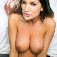 August Ames big tit babe gets epic facial after a hardcore pov fuck