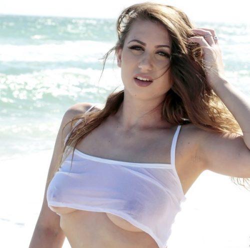 Ivy Rose busty beach babe