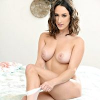 Ashley Adams busty horny slut banged in white stockings